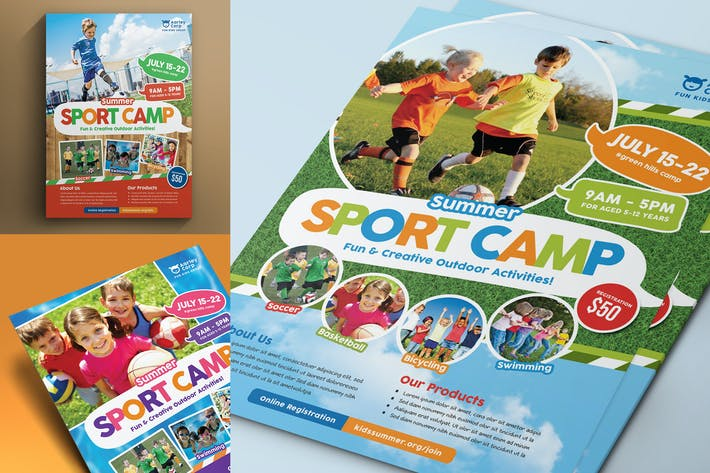 Cover Image For Sport Camp Flyer