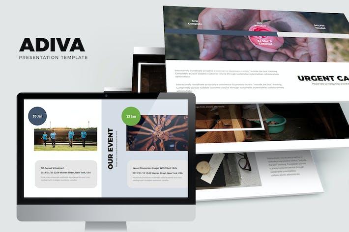 Thumbnail for Adiva : Social, Fundraising, Charity Google Slides