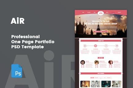 AiR - Creative One Page Portfolio PSD Template