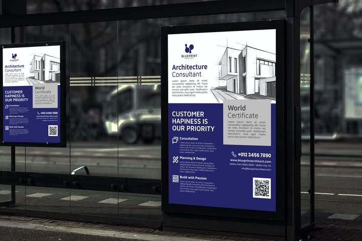 Thumbnail for Blueprint Architect - Business Poster RB
