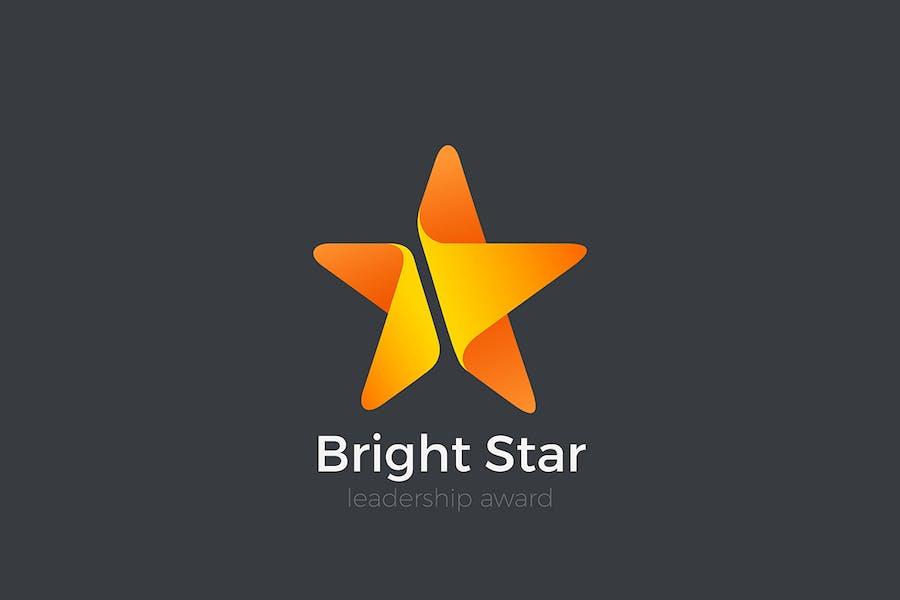 Star Logo abstract design Leadership Award