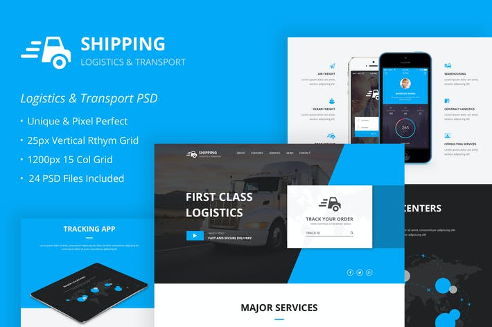 Thumbnail for Shipping – Logistics & Transport PSD Template