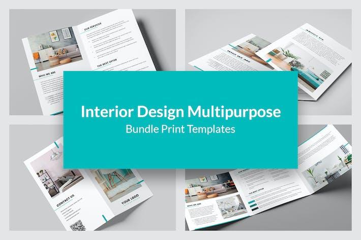 Thumbnail for Interior Design – Bundle Print Templates 9 in 1