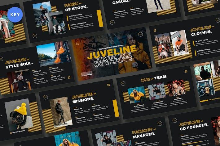 Thumbnail for Шаблон ключевых заKeynote одежды Juveline