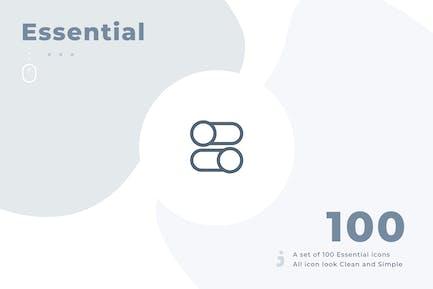 100 Essential Icon Set - Material