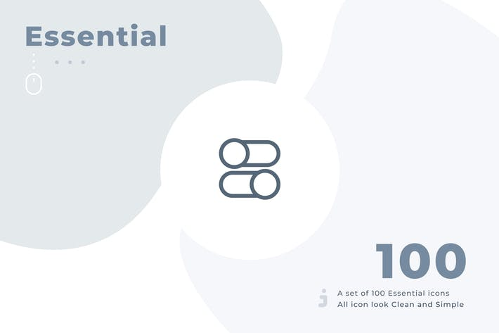 Thumbnail for 100 Essential icon set - Material
