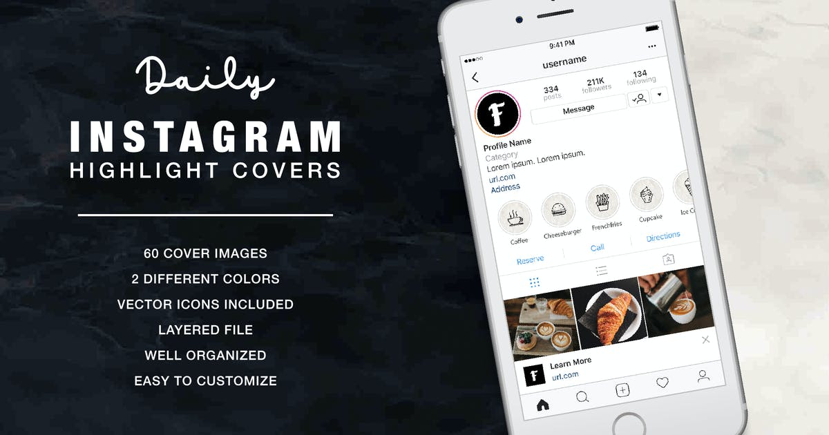 Download Daily Instagram Highlight Cover Ceramic by Formatika