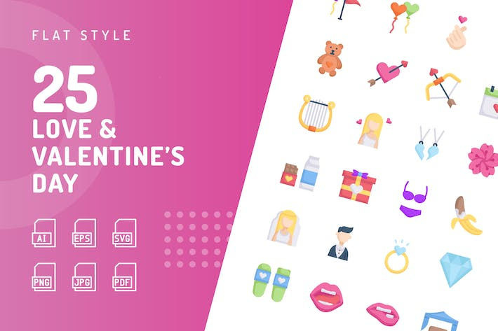 Love & Valentine's Day Flat Icons