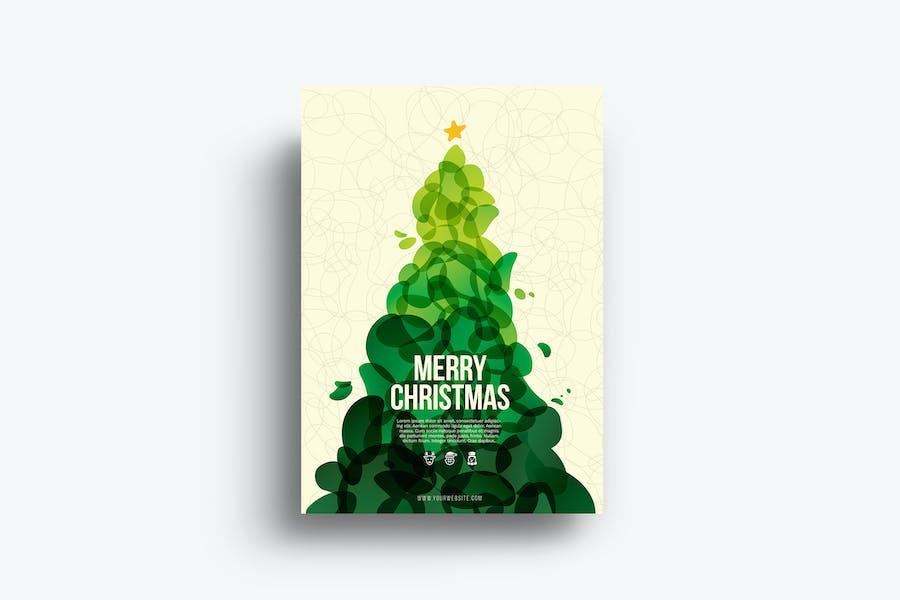 Cool Abstract Christmas Flyer