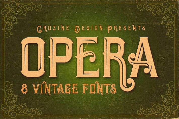 Cover Image For Opera Vintage Typeface
