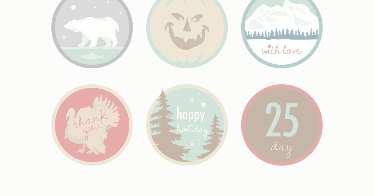 Download Pale Holiday Badges by Jumsoft