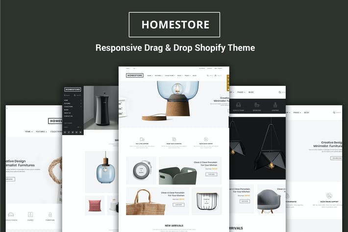 Thumbnail for HomeStore - Sections de meubles Shopify Thème