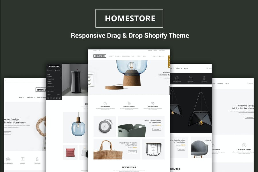 HomeStore - Furniture Sections Shopify Theme