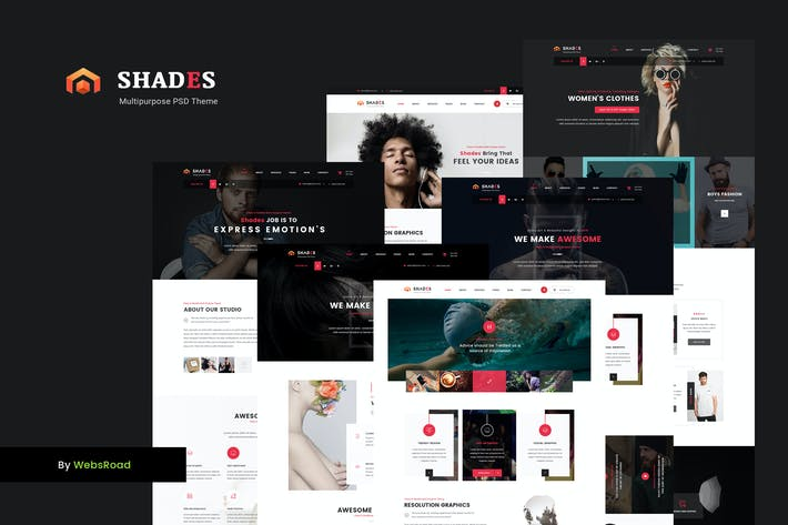 Thumbnail for Shades - Creative Multipurpose PSD Template