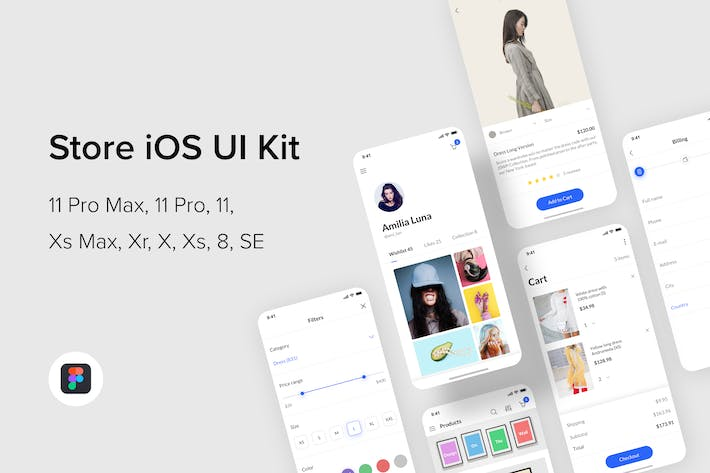 Cover Image For Store iOS UI Kit (Figma)