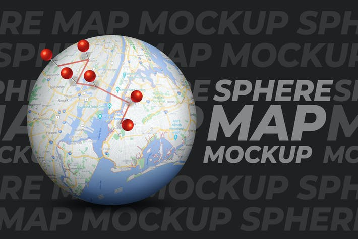 Макет карты сферы