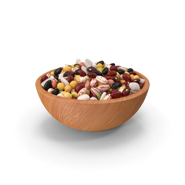 Mixed Legume Beans on a Plate