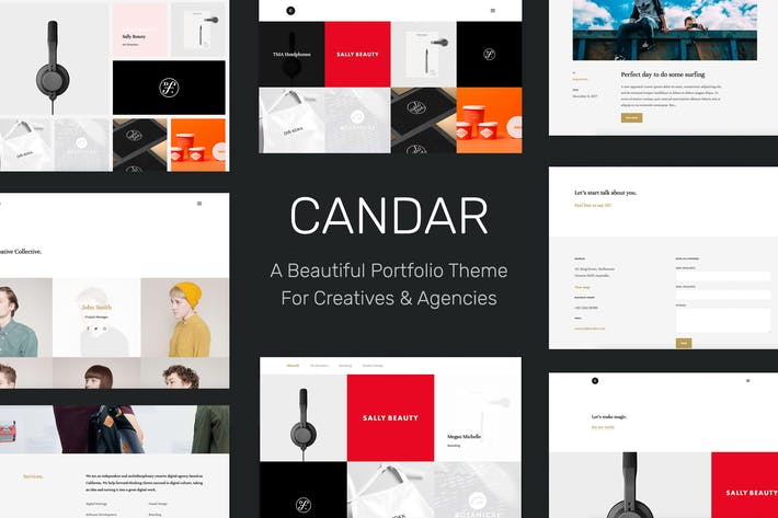 Cover Image For Candar - Freelancers & Agencies Responsive Theme