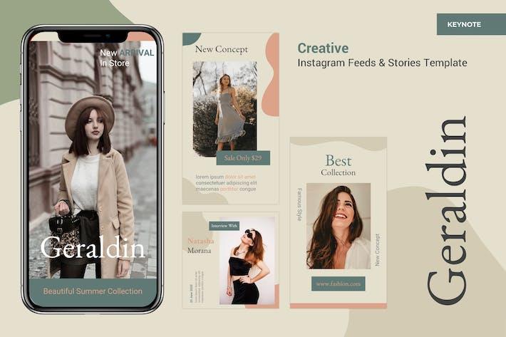 Thumbnail for Шаблон лент и историй Instagram - Keynote