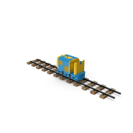 Mining Locomotive on Railway Section