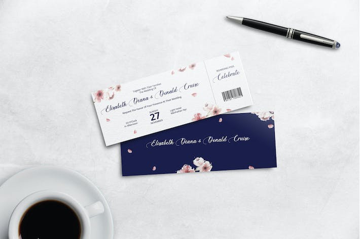 Thumbnail for Boarding Pass Wedding Invitation