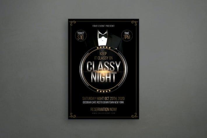 Eleganter Flyer