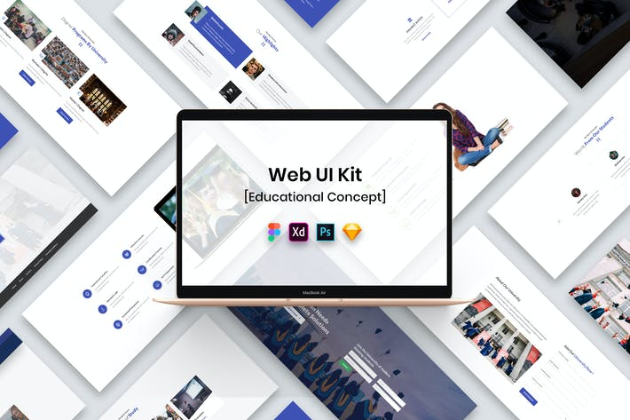 Thumbnail for Educational Web UI Kit