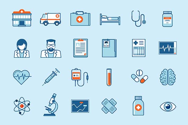 Thumbnail for Набор плоских Иконки на Тема медицины