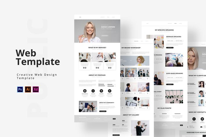 Thumbnail for Public Speaking Web Template