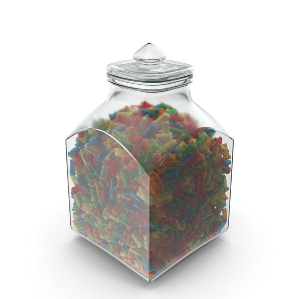 Thumbnail for Quadratisches Glas mit Gummibären