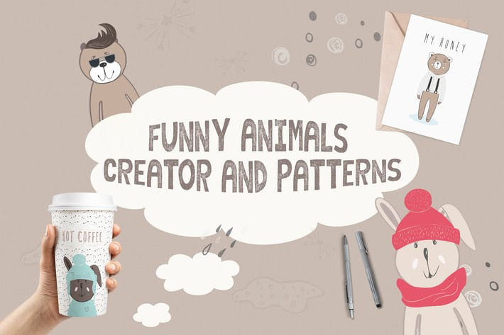 Cover Image For Funny Animals Creator & Patterns