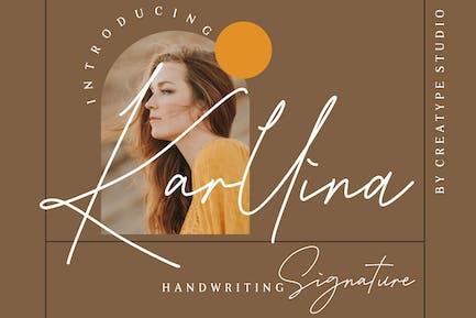 Karllina Firma de escritura a mano