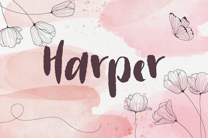Харпер - рукописный шрифт
