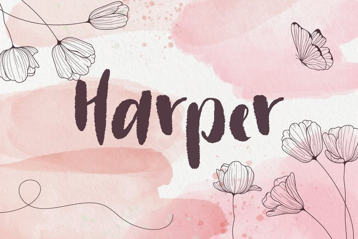 Thumbnail for Harper - Police manuscrite