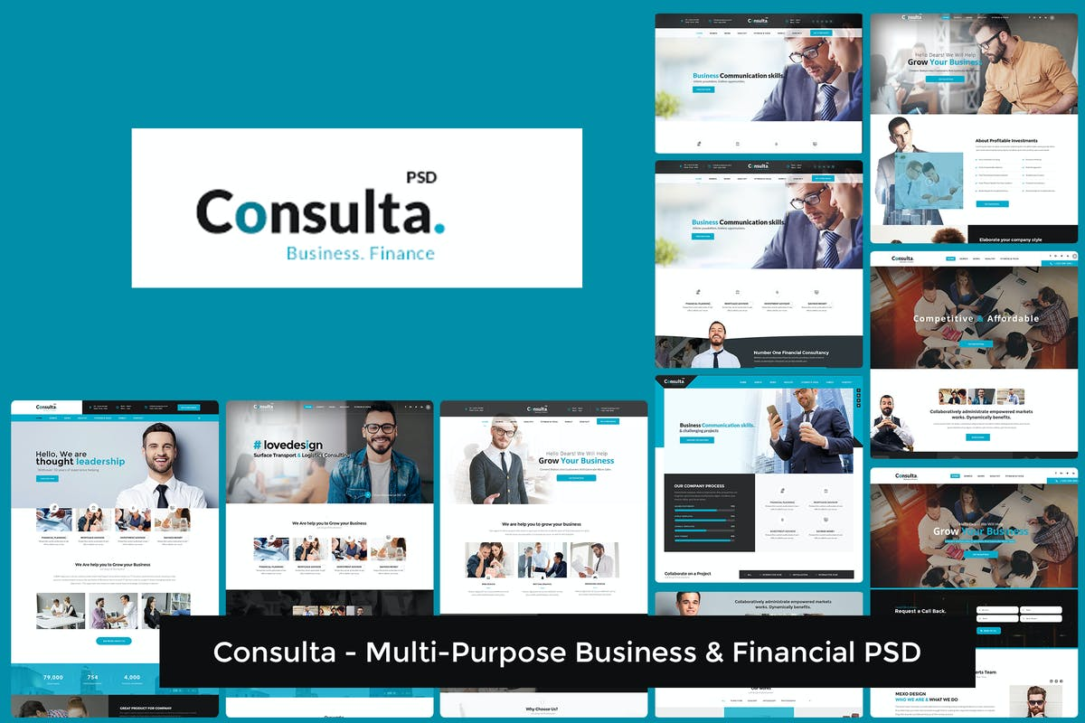 Download Consulta - Multi-Purpose Business & Financial PSD by mexopixel by Unknow