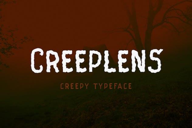 Creeplens - Creepy Typeface