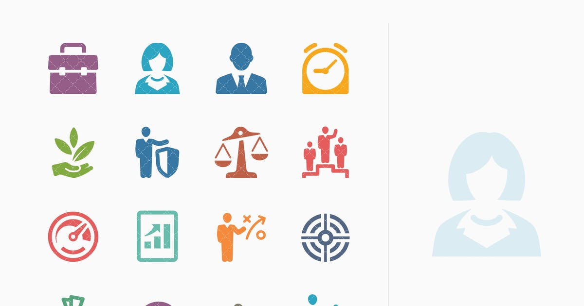 Download Business Icons Set 1 - Colored Series by introwiz1
