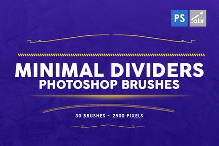 30 Minimal Dividers Photoshop Stamp Brushes