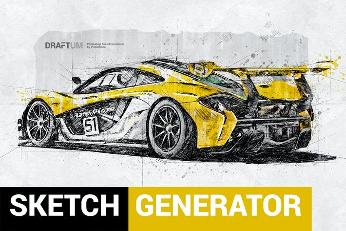 Thumbnail for Sketch Generator - Draftum - Photoshop Plugin