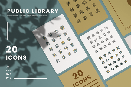 Public Library - Icons
