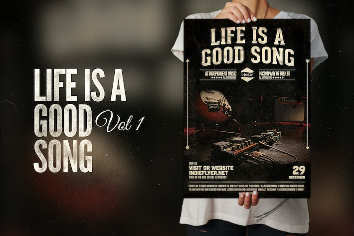 Thumbnail for Life is a good song Flyer Poster