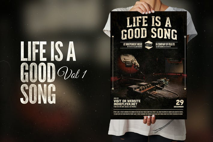 Cover Image For Life is a good song Flyer Poster