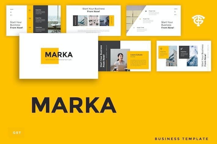 Thumbnail for Marka Business - Google Slides