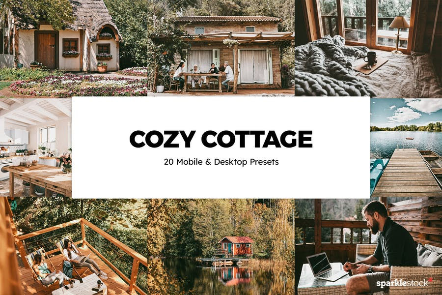20 Cozy Cottage Lightroom Presets & LUTs