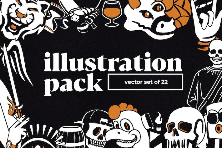 Thumbnail for Pacote de Ilustração e Logo V3