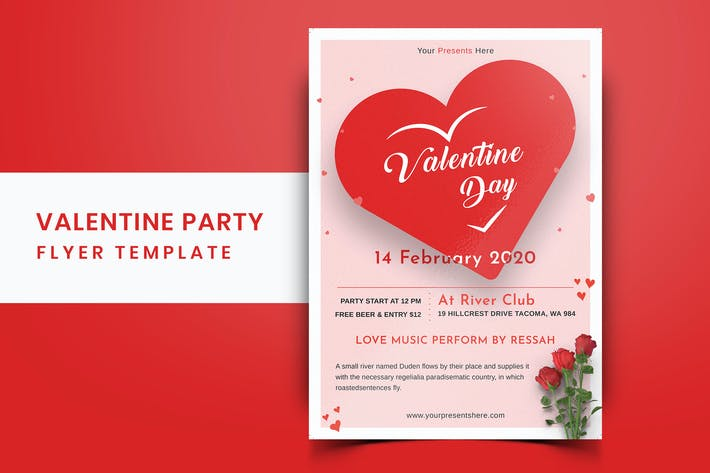 Thumbnail for Valentines Day Party Flyer-06