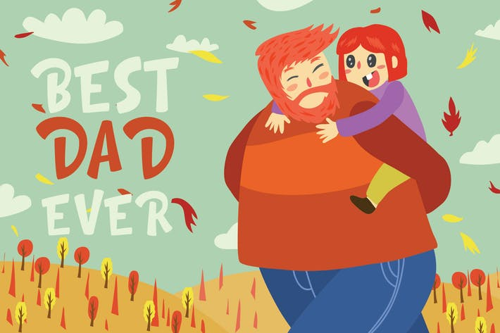 Thumbnail for best dad ever - Vector Illustration