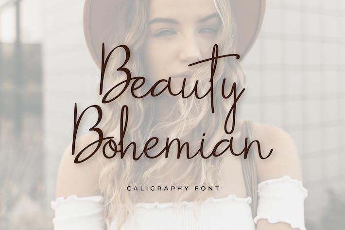 Thumbnail for Belleza Bohemia letra manuscrita