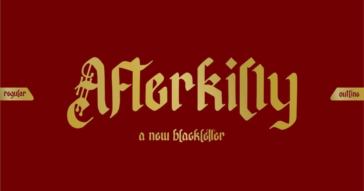 Download Afterkilly | Blackletter Font by garisman