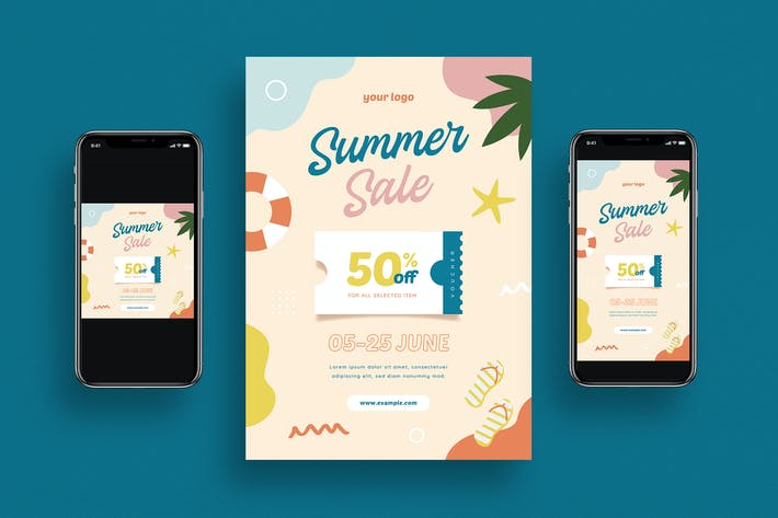 Thumbnail for Summer Sale Flyer + Social Media